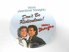 "VINTAGE 3"" PROMO PINBACK BUTTON #100-011 - PERFECT STRANGERS TV SHOW"