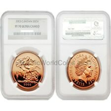 Great Britain 2003 5 Sovereign Gold NGC PF 70 ULTRA CAMEO