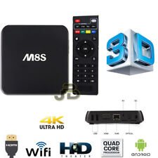 TV BOX ANDROID ULTRAHD 4K CORE RAM 1GB/8GB WIFI HDMI USB M8/S INTERNET IPTV