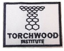 "Doctor Who TORCHWOOD INSTITUTE 4 "" Wide White/Black Embroidered Costume PATCH"