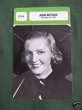 JEAN ARTHUR - MOVIE STAR - FILM TRADE CARD - FRENCH -#2