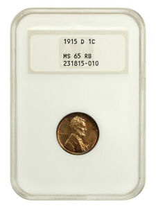 1915-D 1c NGC MS65 RB (OH) Colorful Toning, Old NGC Holder - Lincoln Cent