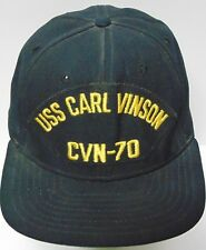 Vtg 1980s USS CARL VINSON CVN-70 UNITED STATES NAVY MILITARY SNAPBACK HAT  USA f5d2683868a