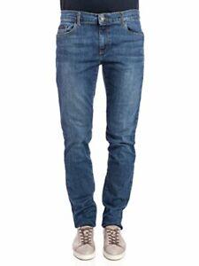 Trussardi Jeans- Jeans Trussardi Uomo Mod.370 Close Mid Rise Blu Stone Washed