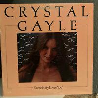 "CRYSTAL GAYLE - Somebody Loves You - 12"" Vinyl Record LP - EX"