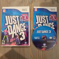 Just Dance 3 (Nintendo Wii 2011) Ubisoft Video Game Complete CIB