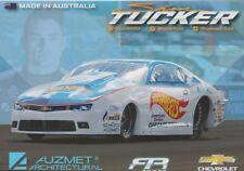 2017 Shane Tucker HOT WHEELS Chevy Camaro Pro Stock NHRA postcard