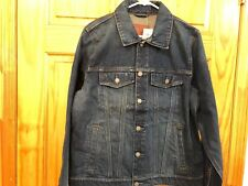 Mens Abercrombie & Fitch Classic Jean Denim Jacket Size Large Medium Destroy NEW