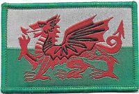 Wales / Baner Cymru -  Flag Iron On / Sew On Patch Badge Appliqué