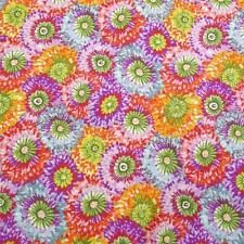 Bright Bursts of Color, Pink, Green Gold Purple Northcott Cotton Fabric, Per YD