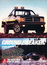 1988 Dodge Dakota 4x4 Trucks - Ground - Classic Vintage Advertisement Ad D66