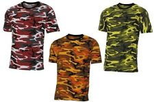 CAMO COMBAT ARMY MILITARY T- SHIRTS 3 COLOURS STREET STYLE RED ORANGE YELLOW