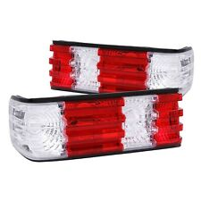 Anzo 221132 Red Clear Lens Halogen Tail Lights for 81-91 Mercedes Benz S Class