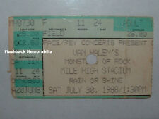 Van Halen / Metallica 1988 Concert Ticket Stub Denver Mile High Monsters Rock