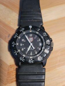 LUMINOX Navy Seals Series3000 Mens Men'S Watch Black Quartz 3-H Mbm read
