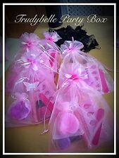 Pink Shimmer Party Bags, Birthday Girl Teen Sleepover Pamper Spa Filled 6 Items