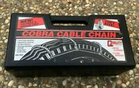 NEW Cobra 1038 Traction Passenger Vehicle Car Cable Tire Ice Snow Chain Pair Set