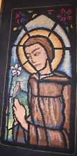 50er anni '60anni '60 ARAZZO DA PARETE SANTA Religious SACRO geklöppelt
