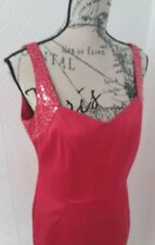 Star by Julien MacDonald Red Satin Fitted Dress with Sequence Detail. UK 12