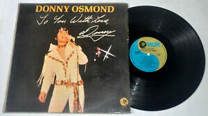 U.S. Pressing DONNY OSMOND To You With Love, Donny LP Vinyl Record