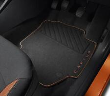 Genuine Renault Captur Premium Orange Front & Rear Floor Mats Set 8201394372