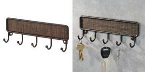 iDesign Twillo Key Rack Organizer for Entryway, Kitchen - Wall Mount, Bronze