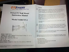"""Yes4All Swivel TV Wall Mount fits TV's 17-37"""" NEW in box MODEL Y4SB1737.2"""