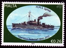 HMS SPIRAEA (K08) Flower Class Corvette Warship WWII Malta Convoys Stamp