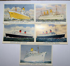 POST CARDS CRUISE LINERS BOATS SHIPS QUEEN ELIZABETH QUEEN MARY