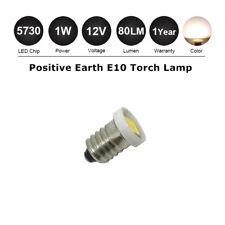 E10 Screw LED Indicator Bulb 12V Lionel Lamp Light  Warm White - Positive Earth