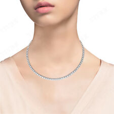 3.00ct Round Cut Diamond Tennis Necklace 10k Solid Rose Gold For Women's