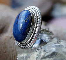 Mächtig Groß Silberring 56 Handarbeit Lapis Lazuli Blau Gold Pyrit Ring Silber