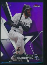 2018 Finest Purple Refractor Charlie Blackmon Colorado Rockies 166/250
