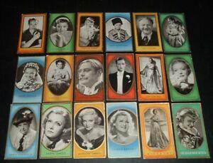 LQQK 18 vintage 1930s german tobacco cards MOVIE STARS, garbo, loy, etc. #2