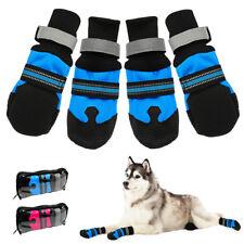 4 Stück Hundesocken Anti-Rutschsocken Hundeschuhe Winterstiefel PfotenschutzS-XL