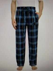 Carolina Panthers NFL Men's Flannel Plaid Lounge Pajama Pants