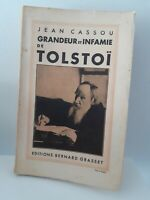 Jean Cassou Cutout And Infamie Of Tolstoy Ed B.Grasset 1932 Pin Signed