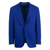 NWT CARUSO Royal Blue Wool Three Roll Two Button Sport Coat Size 50/40 R Drop 7