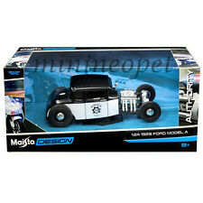 MAISTO 32515 1929 FORD MODEL A POLICE CAR 1/24 DIECAST MODEL CAR BLACK WHITE