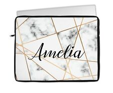 """Personalised iPad Tablet Case Cover Bag Girls Gift 9"""" 10"""" Universal Grey Marble"""