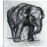 ARTCANVAS Elephant 1907 Canvas Art Print by Franz Marc