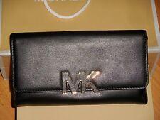 Bnwt Michael KORS Portefeuille cuir noir Florence large billfold wallet