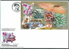 CENTRAL AFRICA  2014 THE MOST DANGEROIUS VIRUSES SYPHILIS TUBERCUOSIS SHT FDC