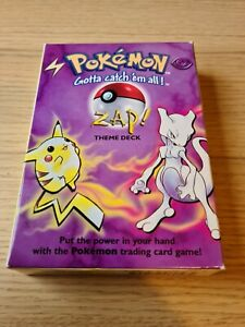 Pokemon Zap! Theme Deck With Mint Manuals, Counters, Chansey Coin Holo Mewtwo
