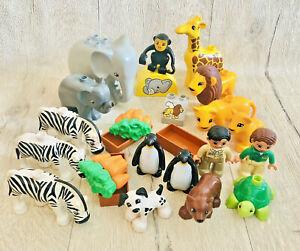 Duplo Zoo Preschool Animals Figures Bundle Large Joblot Lions Elephant Zebra
