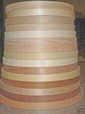 "Wood veneer edgebanding Ash Birch Cherry Maple Red Oak 7/8"" x 50' rolls preglued"