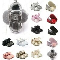 Newborn Kid Baby Girls Princess Cute Toddler First Walk Bow Knot Tie Silk Shoes