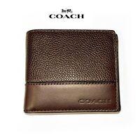GREAT COACH F66072 Mens Wallet Compact ID  MAHOGANY