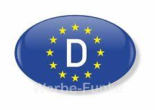 "1 Aufkleber "" EU- Fahne D "", 8 x 5 cm  D-Schild Deutschland"