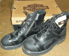 New Harley-Davidson Stealth Patch Lace Boots Men's 12M Black